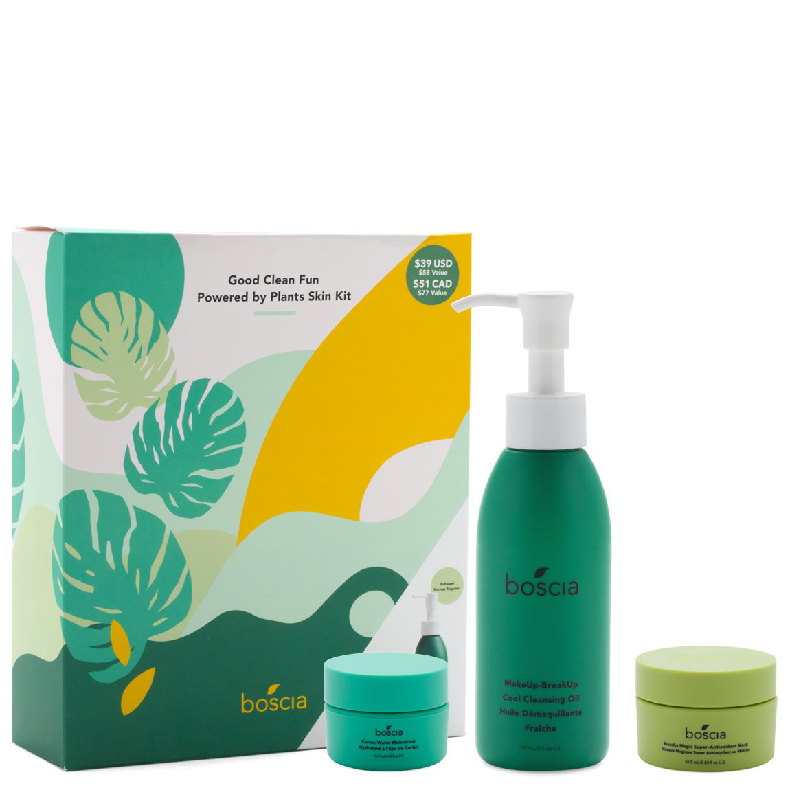 boscia Good Clean Fun - Powered By Plants Skin Kit product swatch.