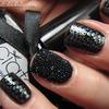 Ciaté Caviar manicure with stamping art