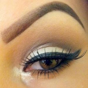 Wearing grey & brown tones