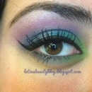 peacock color theme & winged liner