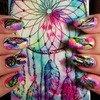 Dream catcher Rainbow NailArt