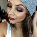 Fall Burgundy Eyes & Cranberry Lips