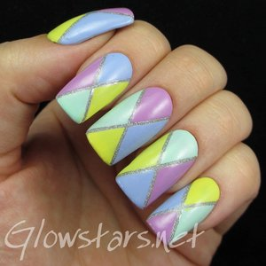 Read the blog post at http://glowstars.net/lacquer-obsession/2015/01/glitter-divided-colour-blocking/