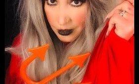 Creepy Devil Makeup Look