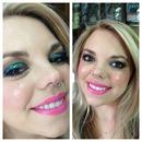 Pop of color makeup 💄