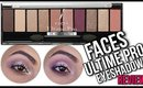 FACES Ultime Pro Eyeshadow Palette Rose | Review - Demo | Stacey Castanha