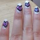 galaxy hearts nail art