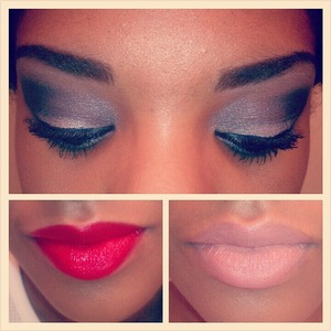 night look with a simple or dramatic lip