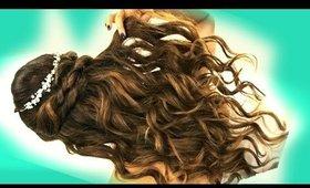 ★ EASY Wedding HAIRSTYLES + Curls   Romantic Hairstyles for Long Medium Hair