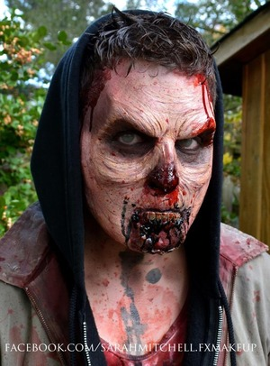 www.facebook.com/sarahmitchell.fxmakeup prosthetic sculpted, molded, applied by me.
