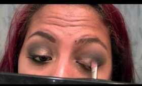 Gray & Gold Smokey Eye