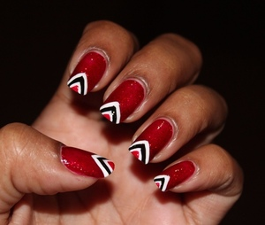 RED, WHITE AND BLACK! http://www.bellezzabee.com/2012/08/happy-50th-independance-t-nails.html