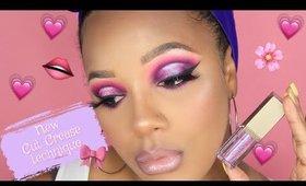 Pink and Purple Halo Cut Crease   Leiydbeauty