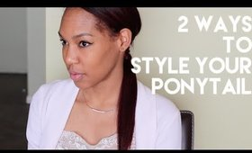 2 Ways to Style Your Ponytails | Spring 2015