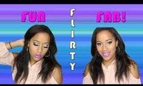 Flirty makeup using Kiss® everEZlashes.