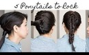 How to: 5 Ways to Rock a Ponytail Tutorial