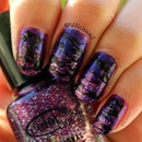 Purple Sugar Spun Nail Art 2