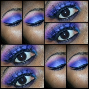 look created using the coastal scents 120 2nd edition eyeshadow palette, NYC liquid eyeliner and Red Cherry #WSP lashes.