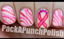 Breast Cancer Awareness Month Nail Art Tutorial