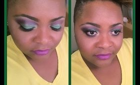 Bold Purple & Green Spring Makeup Tutorial