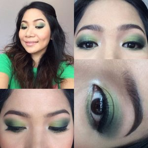 Try this green smokey eye makeup, sexy yet classy. A perfect combination as you prepare for a date or party...