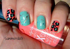 Sally Hansen Coral Reef, Wet N Wild I Need A Refresh-mint, Revlon Whimsical and OPI I Juggle Men