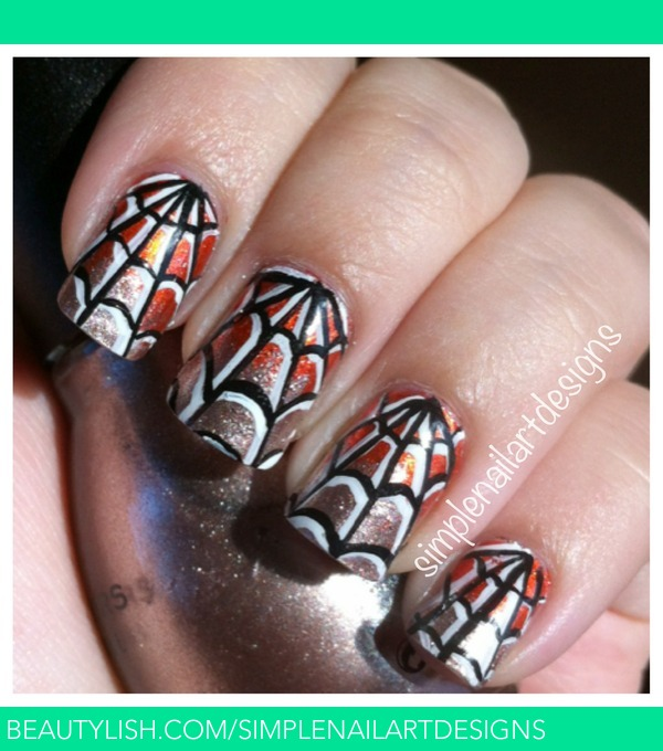 Nail Art Designs Tutorial Youtube: Halloween Spider Web Nails