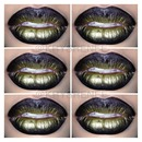 gold ombré lips