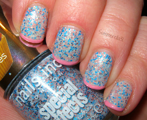 Nails Inc. Sweets Way and L.A. Colors Art Deco Baby Pink summerella31.blogspot.com