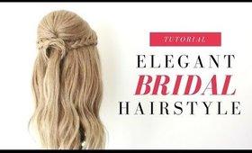 Bridal | Elegant Half Up Half Down Hairstyle