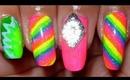 Neon, Rainbow Nails!!!
