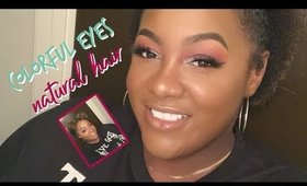 Colorful Eyes & Natural Hair| TriciaNicole
