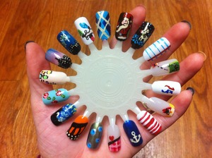 I've been working on doing all the designs I've done on a nail wheel...first one completed :)