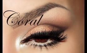 Coral  / Coral eye makeup