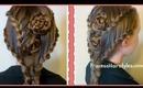 Lace Braid Rose Hairstyle For Long Hair, Hair4myprincess