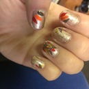 nails for thanksgiving #turkey