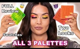 HUDA BEAUTY NEON OBSESSIONS PALETTES  REVIEW + SWATCHES + 2 LOOKS | Maryam Maquillage