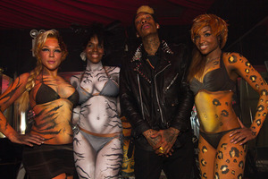 I body painted 3 models to look like wild animals for Wiz Khalifa's record release at the Westway.