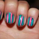 Nail art // stripes