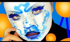 FULL FACE USING ONLY BLUE MAKEUP CHALLENGE 💙