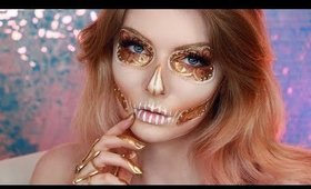 SteamPunk Glam Skull Makeup