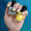 Grey & Yellow Ombre Nails