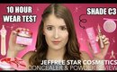 NEW! JEFFREE STAR MAGIC STAR CONCEALER & POWDER REVIEW + FULL DAY WEAR TEST!