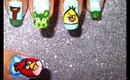 Angry Bird nailart tutorial.... :-)
