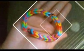 🌟Rainbow fishtail loom bracelet🌟