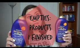 Empties| Products I Used up!