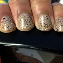 Gold and Brown Glitter