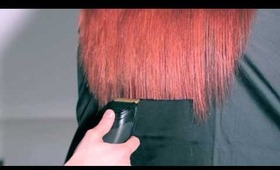 how to tutorial cut long hair with a clipper by Ellen Naaktgeboren