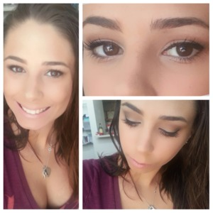 This is my everyday look using Urban Decays Naked Palette. I have naked on the lid, buck in the crease and darkhorse in the outter corner. I also have virgin as my highlight on my brow and inner corner