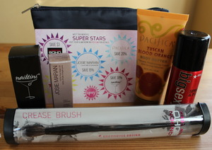 This is what I got this month I'n my IPSY! I did a Smackdown again my Birchbox. Go to http://thedressychick to see who won!